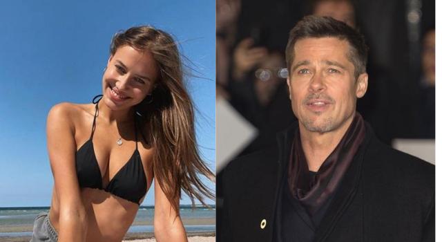 Brad Pitt namorando uma modelo de 27 anos
